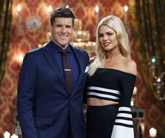 Sophie Monk and Osher Gunsberg on The Bachelorette Australia