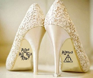 Harry Potter wedding shoe sticker