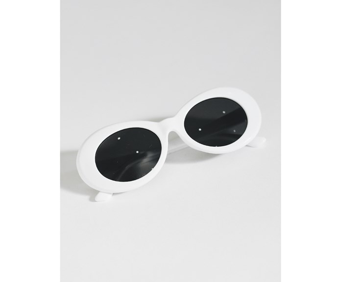 """Mercy Me Sunglasses, $45, at [Verge Girl](https://www.vergegirl.com/mercy-me-sunglasses-white.html