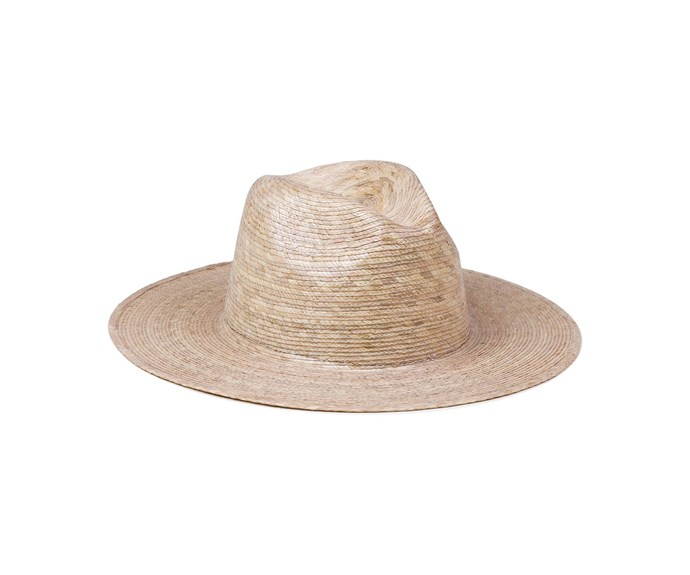 """Palma Fedora, $89, at [Lack of Colour](https://www.lackofcolor.com.au/collections/straw/products/palma-fedora