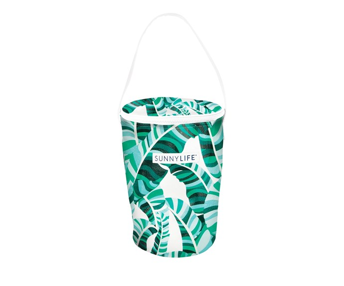 """Cooler Bucket, $39.95, at [Sunny Life](HTTPS://WWW.SUNNYLIFE.COM.AU/COLLECTIONS/PICNIC/PRODUCTS/COOLER-BUCKET-BAG-BANANA-PALM-SS18