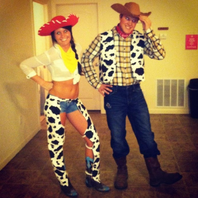**Jessie and Woody from *Toy Story***  [Pinterest](https://www.pinterest.com.au/pin/494903446534756018/)