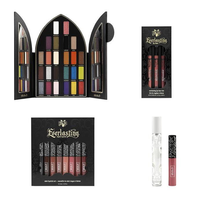 """**Kat Von D's** limited edition holiday collection brings a mix of new palettes, never before seen lip colours and some previously sold-out shades. It will be available to shop at [Sephora](https://www.sephora.com.au/brands/kat-von-d?q=kat%20v