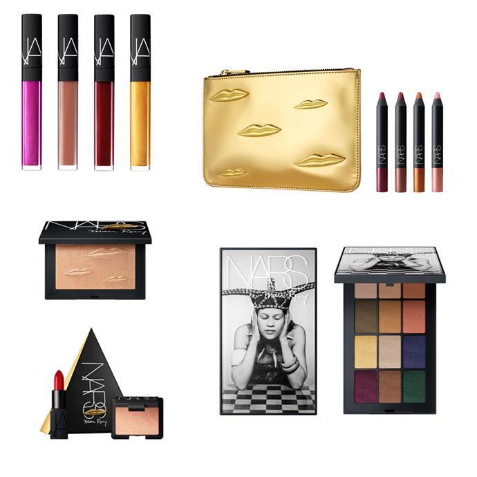 """**NARS** has collaborated with artist Man Ray for their 2017 Holiday Collection. Packaged in Man Ray's work, NARS has produced a range of limited edition lip laquers, shadow palettes, and five NARS 'love triangles' containing a lipstick and matched blush. This collection will be available at [MECCA](https://www.mecca.com.au/nars/