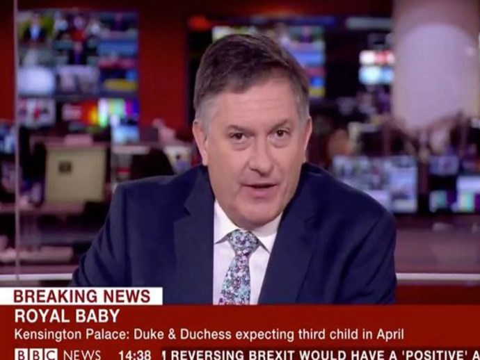This BBC newsreader really doesn't care about the royal baby and it's hilarious