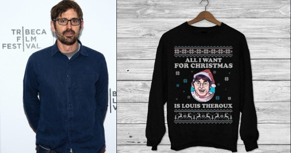 Um... this Louis Theroux Christmas jumper might be the most glorious gift ever