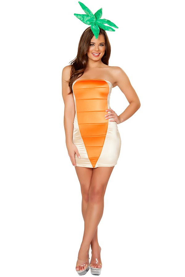 """**Sexy Carrot** Carrot Costume, $25 (approx.) at [Yandy](https://www.yandy.com/Exclusive-Cute-Carrot-Costume.php