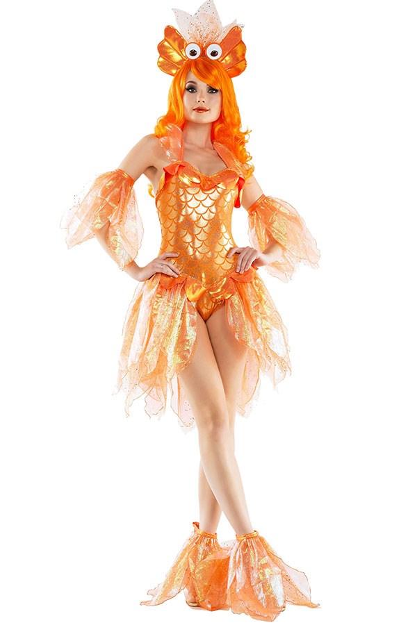 "**Sexy Goldfish** Goldfish Costume, $71 at [Amazon](https://www.halloweencostumes.com.au/women-s-sexy-goldfish-costume.html?utm_source=google&utm_medium=ppc&network=search&pcid=61&gclid=EAIaIQobChMIycPB7c-F1wIVmwgqCh2cHghBEAYYASABEgLmh_D_BwE|target=""_blank""|rel=""nofollow"")"