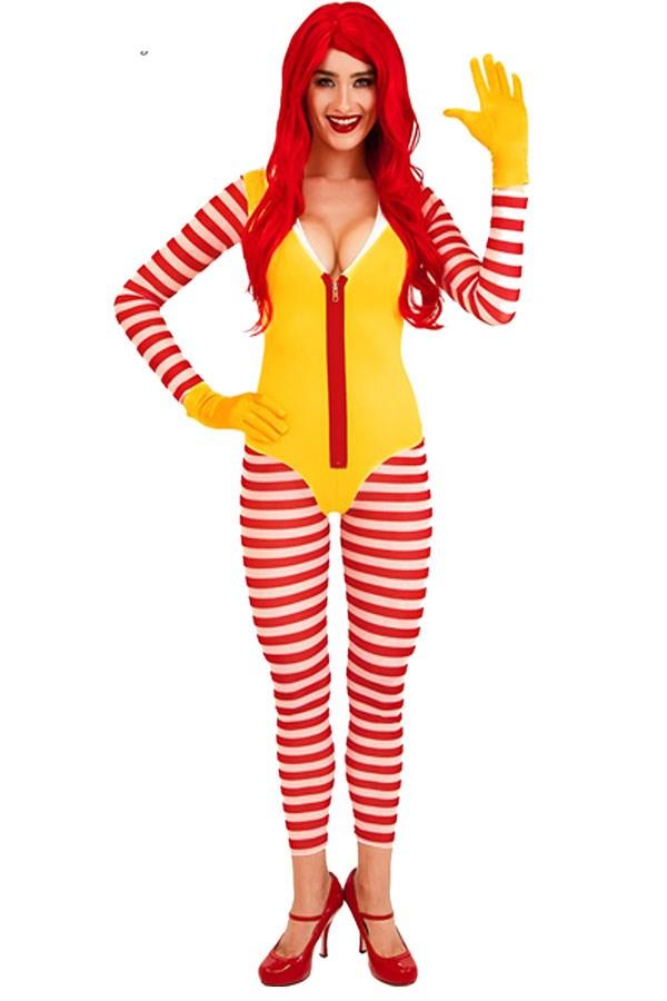 "**Sexy Ronald McDonald** Sexy Ronald McDonald Costume, via [Yandy](http://www.yandy.com/17-circus-costumes?q=clown|target=""_blank""|rel=""nofollow"")"