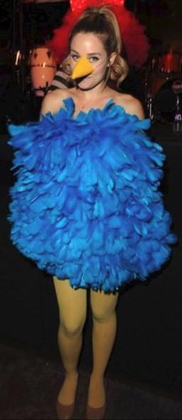 Lauren Conrad's Big Bird Halloween costume.