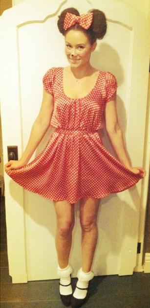 Lauren Conrad's Minnie Mouse Halloween costume.