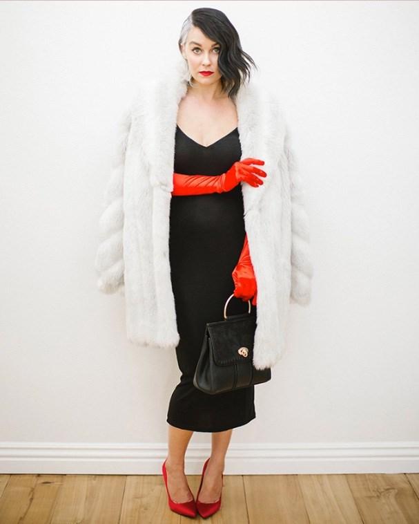 Lauren Conrad's Cruella de Vil Halloween costume.