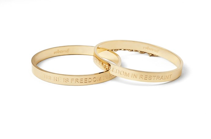 These sleek 24K gold plated bangles have a sexy little subtle chain between them, meaning they double up as a handcuffs for the bedroom! **Cleo Bangle Handcuffs, $54 from [Unbound](https://unboundbox.com/products/cleo-bangle-handcuffs)**.