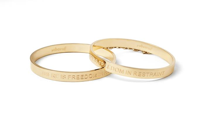 These sleek 24K gold plated bangles have a sexy little subtle chain between them, meaning they double up as a handcuffs for the bedroom. **Cleo Bangle Handcuffs, $54 from [Unbound](https://unboundbox.com/products/cleo-bangle-handcuffs)**.