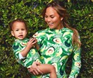 Chrissy Teigen wearing matching avocado bodysuits with Luna is actually you as a mother