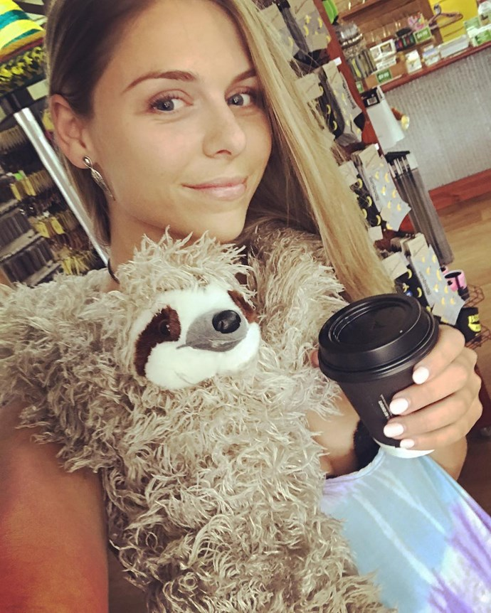 **Tara Pavlovic**  Even though she may have been spotted with Dereck the sloth, and then [linked to Blake Colman](https://www.cosmopolitan.com.au/bachelor/bachelor-australia-2017-tara-pavlovic-dating-blake-colman-24507) from Sophie Monk's season of *The Bachelorette* as a result, Tara is still single. And she seems to be having a blast.