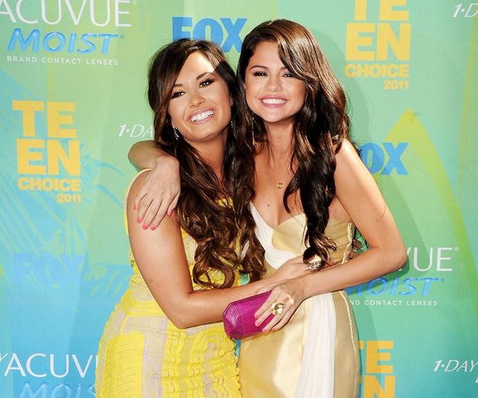 Selena Gomez and Demi Lovato.