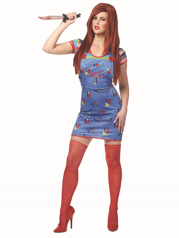 "**Chucky Doll** <br><br> $39 at [Halloween Costumes](https://www.halloweencostumes.com.au/sexy-chucky-womens-costume.html|target=""_blank""