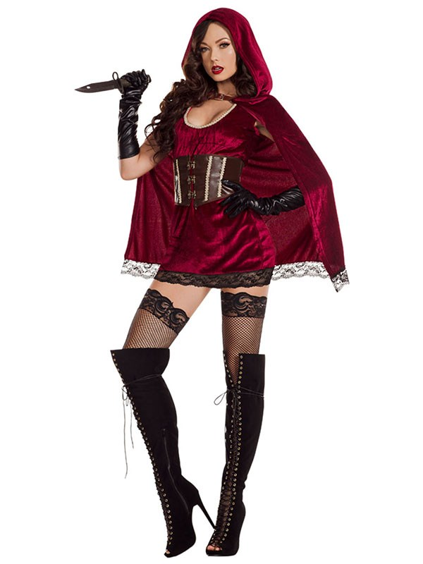 "**Little Red Riding Hood ** <br><br> $65 at [Yandy](http://www.yandy.com/Red-Riding-Hood-Costume-S7110.php|target=""_blank""