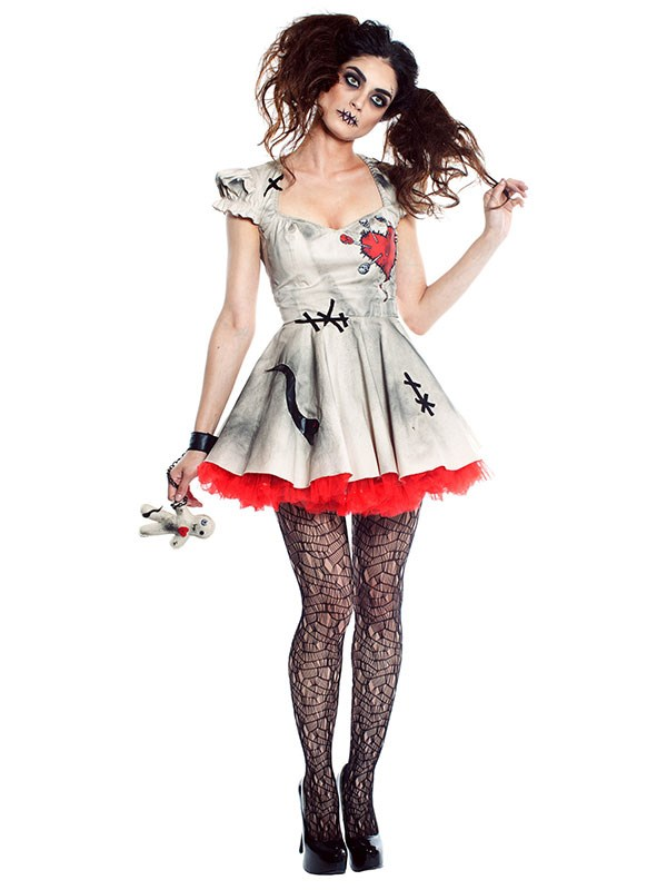 "**Voodoo Doll** <br><br> From $53 at [Halloween Costumes](https://www.halloweencostumes.com.au/womens-voodoo-doll-costume.html|target=""_blank""