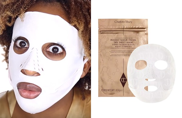 "**Charlotte Tilbury Revolutionary Instant Magic Facial Dry Sheet Mask, $35 at [Charlotte Tilbury](http://www.charlottetilbury.com/au/dry-sheet-face-mask.html?istCompanyId=56299521-1eab-42aa-9254-4ed5ecf8b222&istItemId=xptlmilmwm&istBid=tztx&gclid=CjwKCAjwj8bPBRBiEiwASlFLFWdbcVCLd-GmuA0XWTjT1f3N1-UzYEVXzx3oepYzmAbMywC9w1RXNBoCtiEQAvD_BwE&gclsrc=aw.ds|target=""_blank""