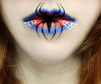 These haunting Halloween lips are incredible