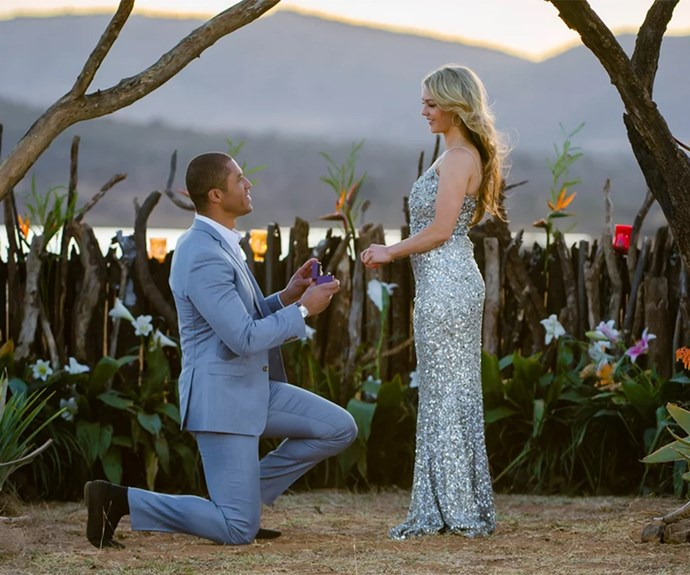 Blake Garvey proposing to Sam Frost on The Bachelor Australia