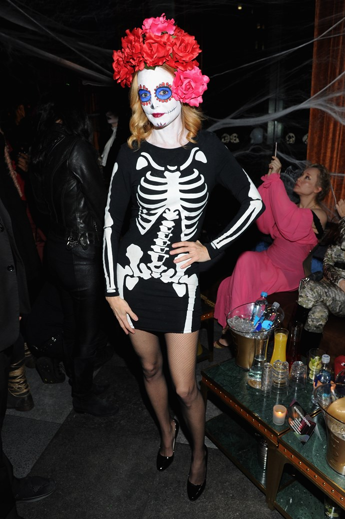 "For Mexican people the 'Day of the Dead' is when they mourn their loved ones and celebrate their lives, so taking their ""sugar skull"" imagery and turning it into a skeleton costume is a little low-brow, Heather Graham."