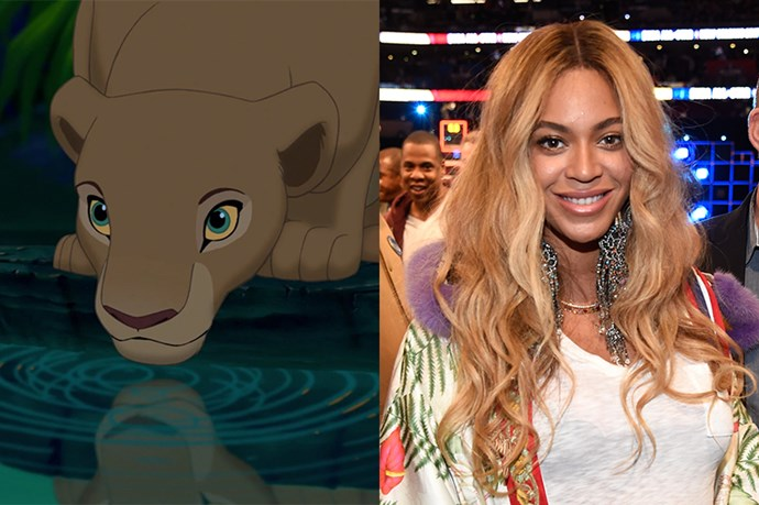 Adult Nala will be played by Beyoncé Knowles-Carter.
