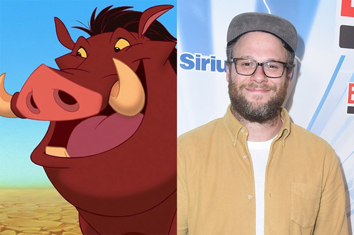 Pumbaa will be played by Seth Rogen.