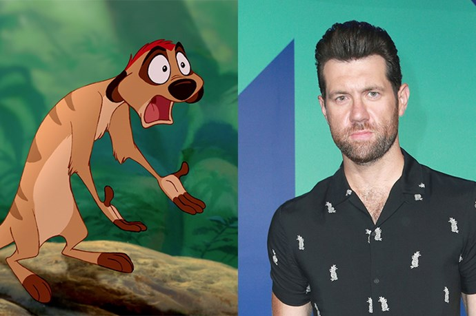 Timon will be played by Billy Eichner.