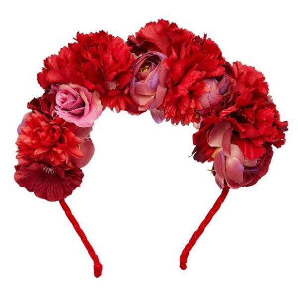 """Red Floral Headpiece, $25 at [Sportsgirl](https://www.sportsgirl.com.au/accessories/red-floral-headband-red-all