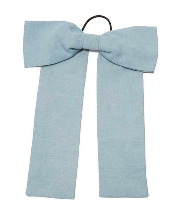 "Hair Tie, $26, Namrata Joshipura at [Shopbop](https://www.shopbop.com/chambray-bow-hair-tie-namrata/vp/v=1/1515171240.htm?folderID=13575&fm=other-viewall&os=false&colorId=12882|target=""_blank""|rel=""nofollow"")"