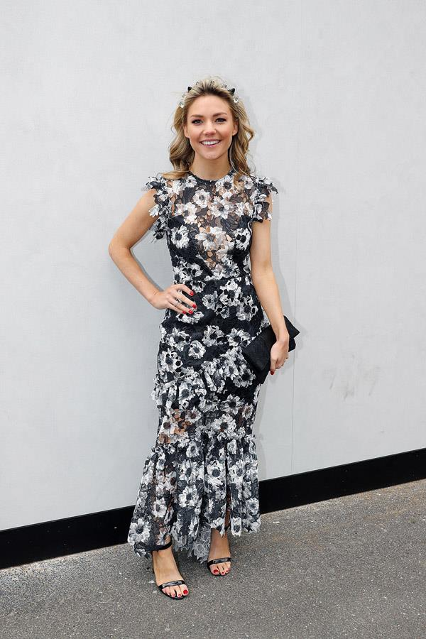 Sam Frost on Derby Day at Flemington Racecourse.