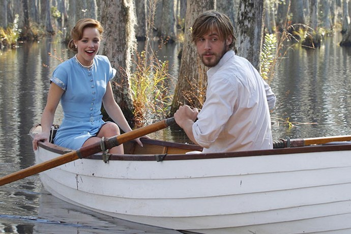 ***The Notebook***: Allie Hamilton's baby blue tea dress that she wore with Noah while they rowed across the lake like a pair of cute lil' lovebirds.