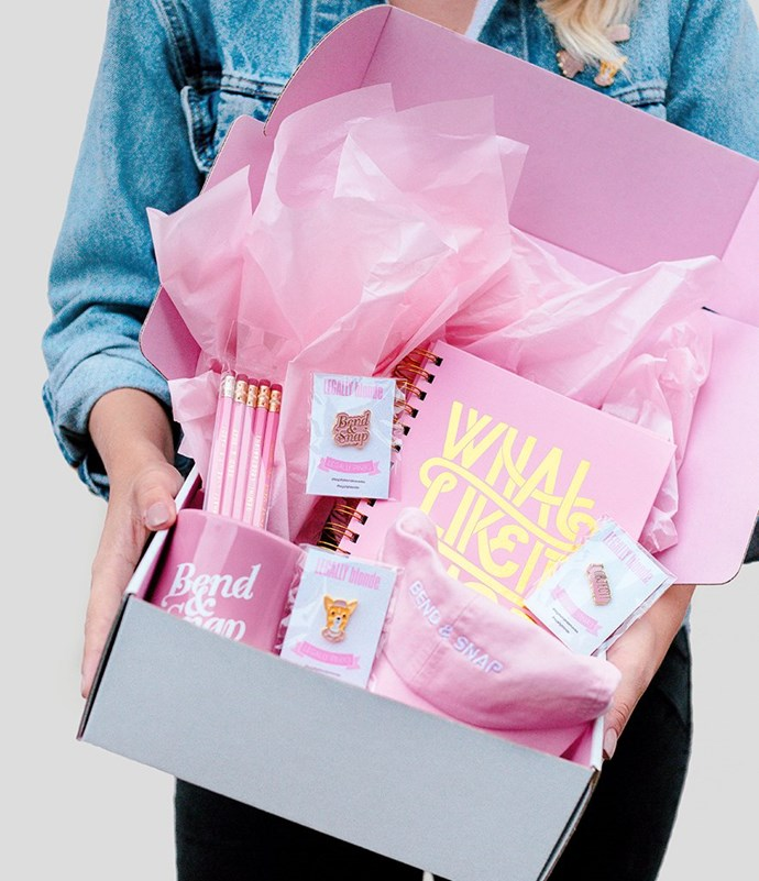 "Legally Blonde Box, $72 at [WhoHaha](https://shop.whohaha.com/products/the-legally-blonde-box|target=""_blank""|rel=""nofollow"")"