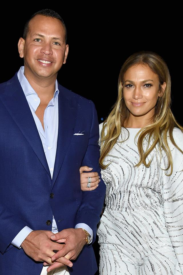 "**Jennifer Lopez and Alex Rodriguez** <br><br> J.Lo and A-Rod may have gotten together a little later in life, but the engaged pair have packed plenty into their two-year relationship. They went on their first proper date at the Hotel Bel-Air, 12 years after meeting at a baseball game, and it sounds like a doozy. ""He was sitting there in his white shirt, very confident and manly, but then he was just so talkative."" J.Lo told [*Vanity Fair*](https://www.vanityfair.com/style/2017/10/jennifer-lopez-alex-rodriguez-cover-story