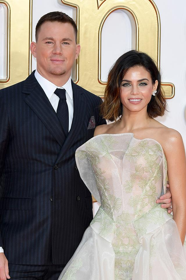 "**Channing Tatum and Jenna Dewan Tatum** <br><br> Everyone knows that Channing and Jenna met on the set of *Step Up* over 10 years ago, but they both pulled a few (non-dance) moves that helped them fall in love with each other. Jenna kinda played hard to get. ""I said, 'Well, look, if you want to date other people and be free that's totally fine. But we're not gonna hang out and watch movies,'"" she told Ellen DeGeneres. ""You have to figure out what you want because I want a relationship."" It worked three days later, after a night of drinking with some other dancers, Channing showed up to her hotel room wearing nothing but a sombrero, undies and Ugg boots. ""He said he had the chance to be free and he couldn't stop thinking about me,"" Jenna said. <br><br> As for their first date, Channing decided it was better to come clean about his stripper past sooner rather than later. ""I think it was one of the very first, like, dinners that we ever had together,"" he told *Entertainment Tonight*. ""I'm not shy about it. She was just like, 'What?' She needed to know, just like everybody."" Today, these two are divorced co-parents of their daughter, Everly."