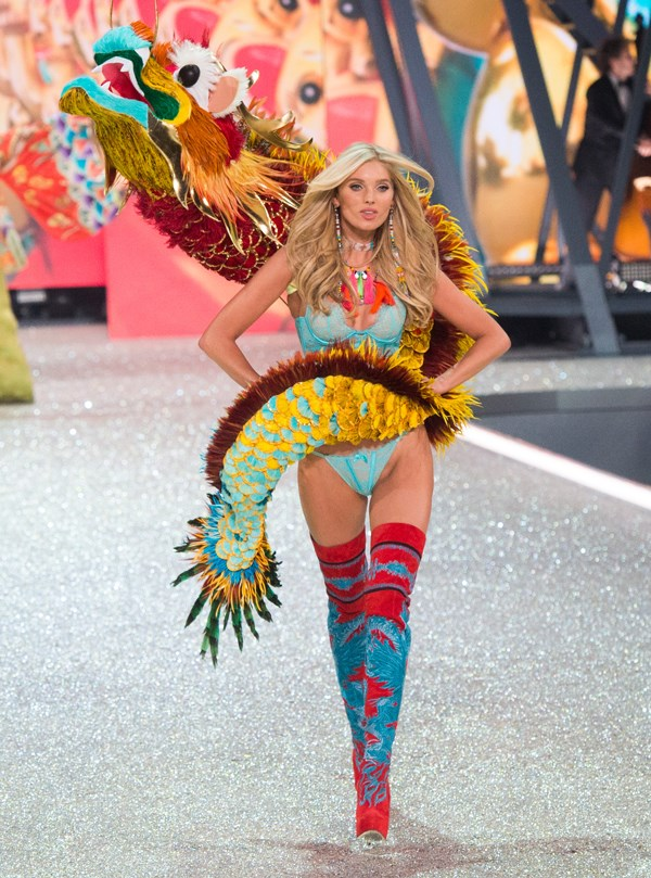 **2016: Elsa Hosk**   Victoria's Secret copped serious backlash from this lingerie look appropriating Chinese culture, in particular the dragon draped around Elsa's shoulders, with claims the outfit was made was in an attempt to appeal more to the Asian market.