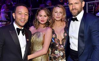 John Legend, Chrissy Teigen, Blake Lively and Ryan Reynolds