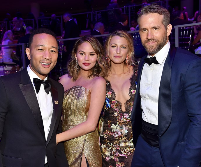 John Legend, Chrissy Teigen, Blake Lively and Ryan Reynolds