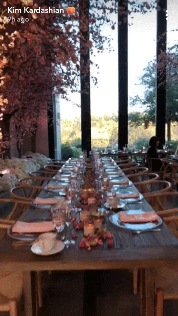 The table settings were almost as pretty as the view.