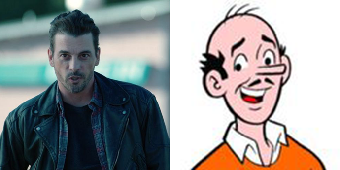 **F.P. Jones**  Ditto the casting choice of Skeet Ulrich for Jughead's dad. Was there something in the Riverdale water supply that caused all these cartoon men to go bald?
