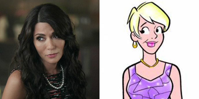 **Hermione Lodge**  Bless the CW for casting Marisol Nichols as Hermione so that Mum Lodge didn't end up looking exactly like Mum Cooper, who was basically her twin in the comics.