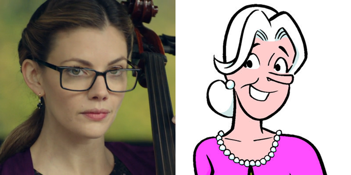 **Geraldine Grundy**  On *Riverdale*, the *real* Geraldine Grundy looked a lot more like the one in the comics; this one was just using Grundy's name as an alias.