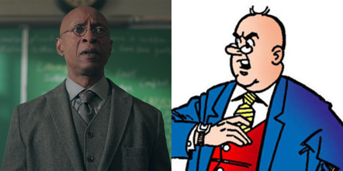 **Principal Weatherbee**  Props to the *Riverdale* costume department for this spot-on vest accuracy.