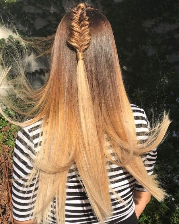 """**Ombre Hair: Honey blonde** <br><br> Cool brunettes should try adding warm, honey-blonde highlights through the ends to create a summer ombre. <br><br> (via [@thefoxandthehair](https://www.instagram.com/thefoxandthehair/?hl=en
