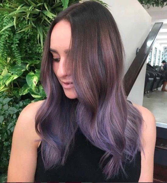 """**Ombre Hair: Smoky purple** <br><br> We're so here for this smoky purple dip dye. #HairGoals x 10000 <br><br> (via [@thefoxandthehair](https://www.instagram.com/thefoxandthehair/?hl=en