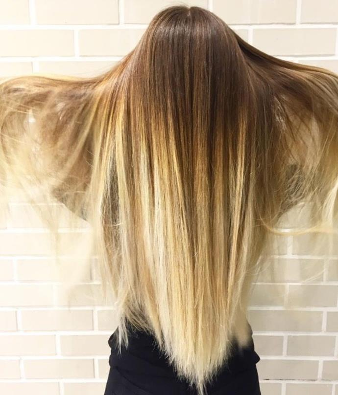 """**Ombre Hair: Fade to blonde** <br><br> This cool brown faded to a beaut creamy blonde is giving us *all* the hair envy right now. <br><br> (via [@bleachlondon](https://www.instagram.com/bleachlondon/?hl=en