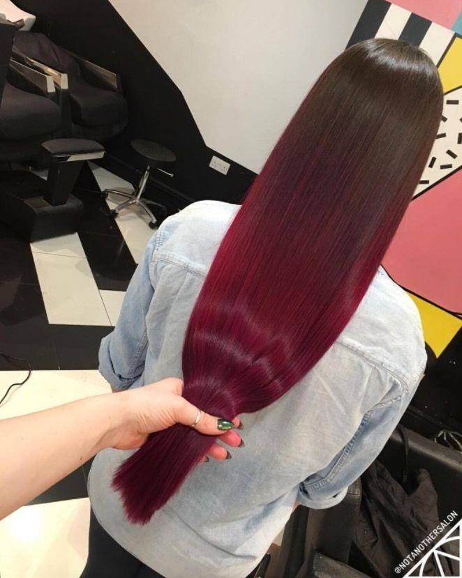 """**Ombre Hair: Bordeaux balayage** <br><br> Pay homage to your love of the red stuff with this wine-inspired ombre, <br><br> (via [@notanothersalon](https://www.instagram.com/notanothersalon/